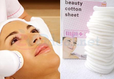 50 Bông khô massage mặt