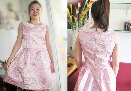 Đầm hồng kim tuyến