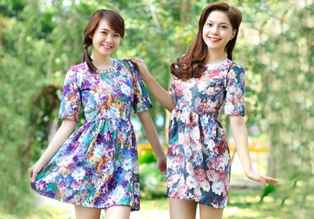 Đầm hoa thời trang xu hướng mới