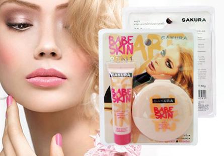 Bộ 2 BB Skin và phấn Babe Sakura