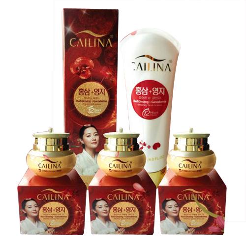 Bộ 4 sản phẩm chăm sóc da Cailina tinh chất nhân sâm